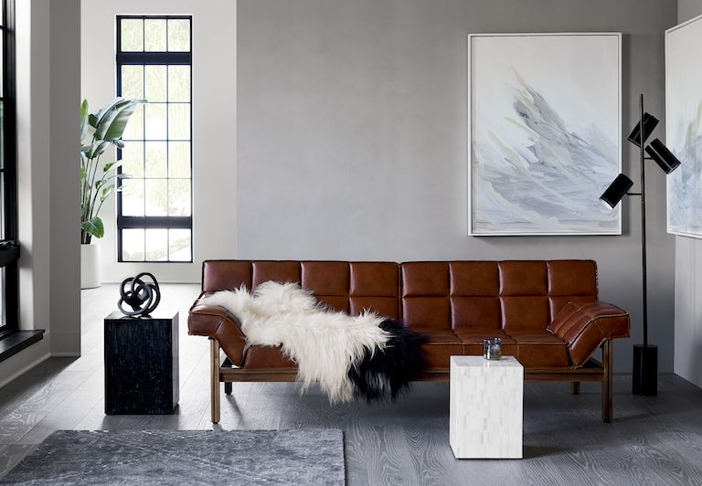 drops leather sofa room tours & Modern Living Room Ideas   CB2