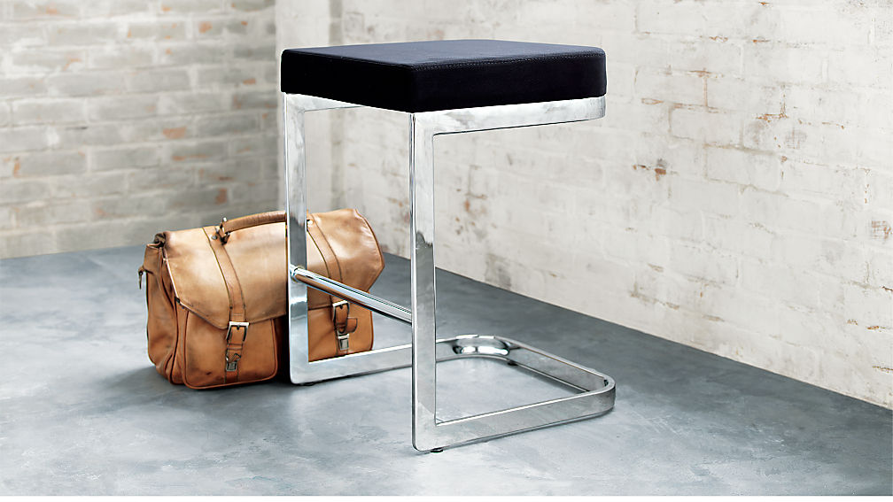 "Mack Suede 24"" Counter Stool - SOLD OUT - Image 1 of 5"
