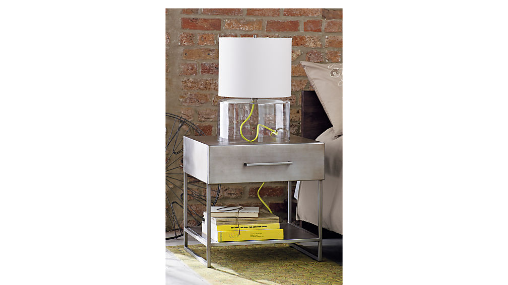 proof metal nightstand + reviews | cb2 Night Stand Images