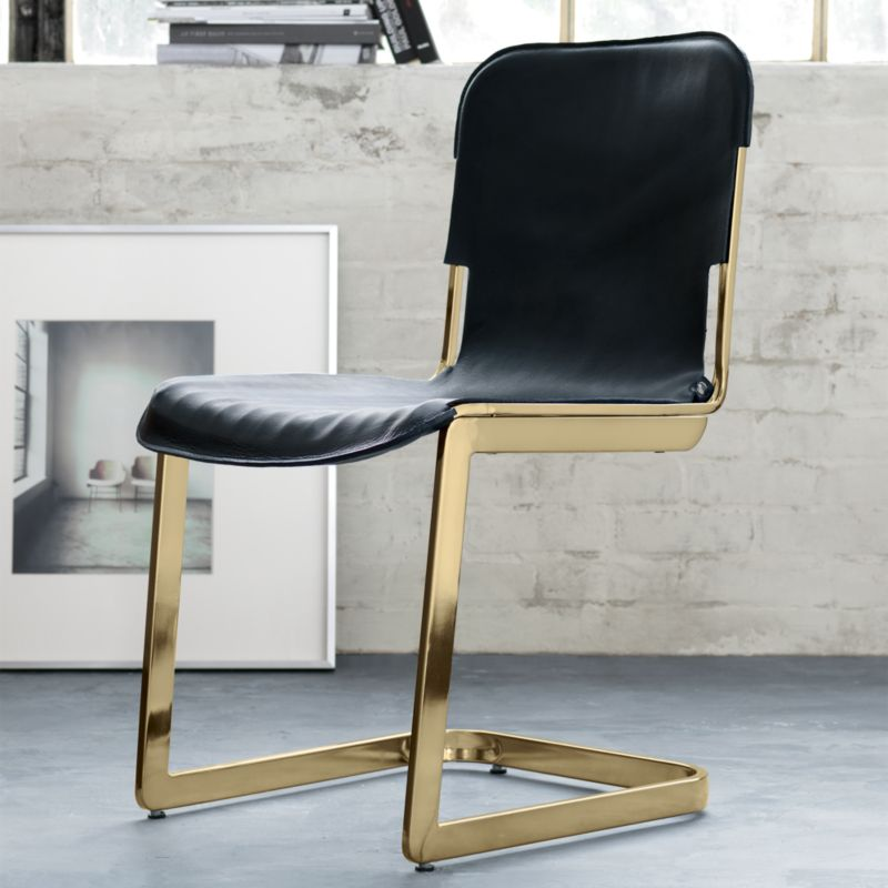 Charmant Rake Brass Chair + Reviews | CB2
