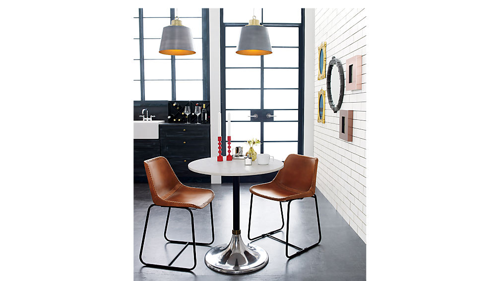 Hackney Marble Cocktail Table Reviews CB - Cb2 marble dining table