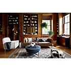 View product image Savile Dark Saddle Brown Leather Tufted Sofa - image 2 of 6