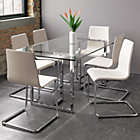 "View product image silverado chrome 72"" rectangular dining table - image 4 of 7"