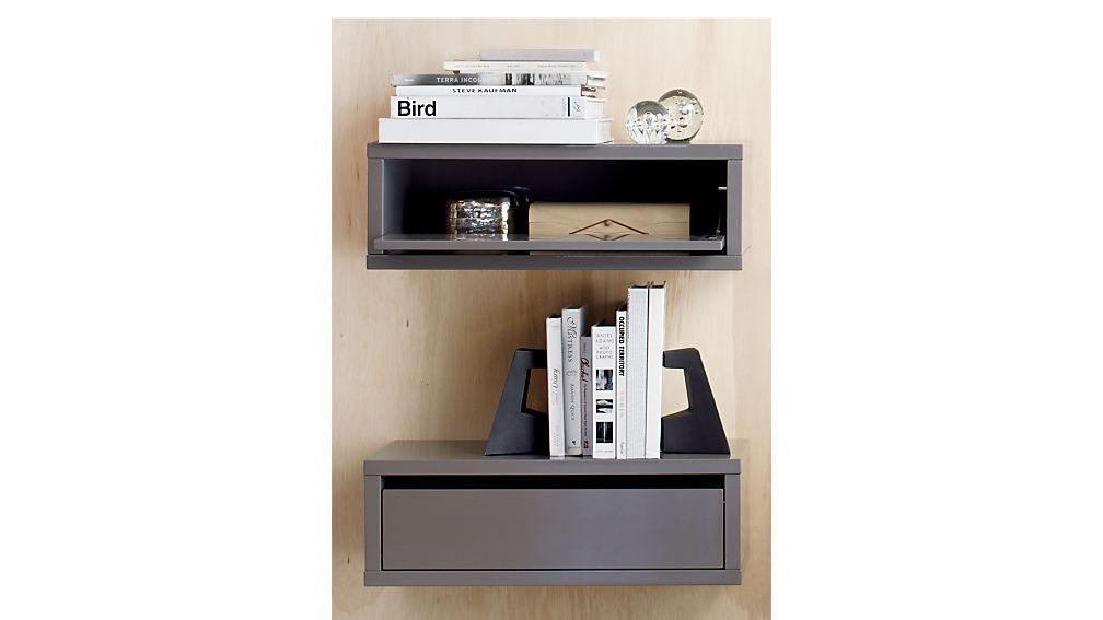 sc 1 st  CB2.com & slice wall mounted nightstand-shelf + Reviews   CB2