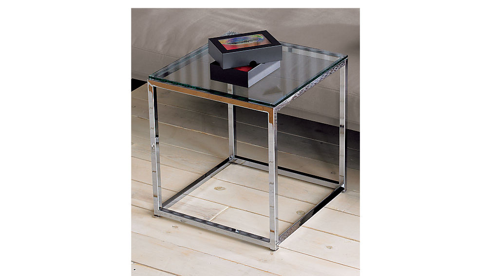 Smart Small Chrome Side Table | CB2