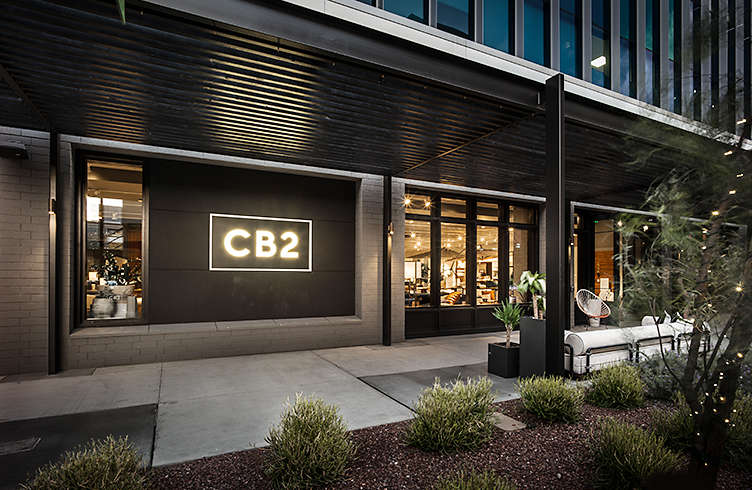 Exterior View Of Crate And Barrel Location, Scottsdale Quarter   Now Open