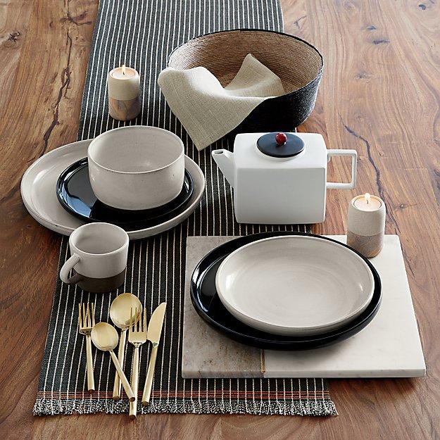 & black clay dinnerware | CB2