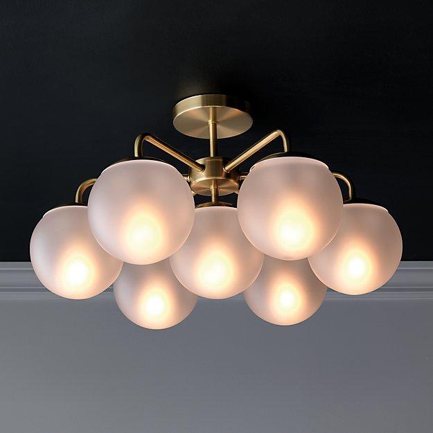 vega brushed brass flush mount light reviews cb2