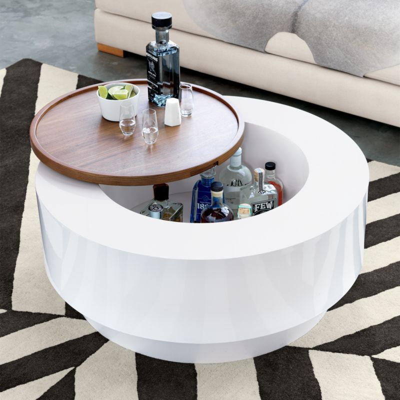 White Coffee Tables CB - Cb2 white coffee table