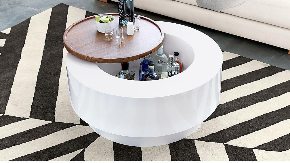 Ya Ya Round Storage Coffee Table Reviews CB - Cb2 white coffee table